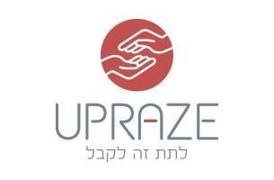 עיצוב לוגו UPRAZE לתת זה גם לקבל