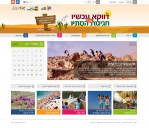 עיצוב אתר דווקא עכשיו חופשה בישראל