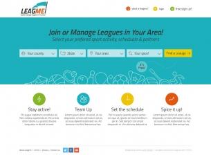 עיצוב אתר LeagMe - ניהול ליגות ספורט שכונתיות