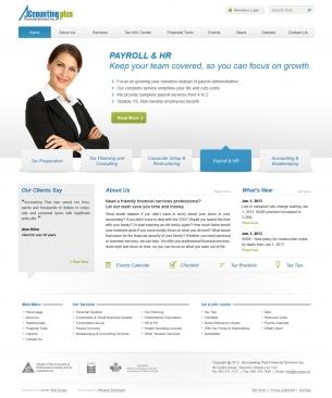 עיצוב אתר Accounting Plus
